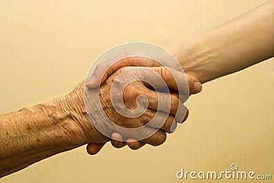 main de vieille et jeune femme photo libre de droits image 8059005. Black Bedroom Furniture Sets. Home Design Ideas