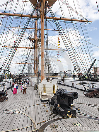 Main Deck and Forward Gun - HMS Warrior Editorial Photography