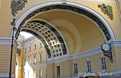 Main entrance arch to palatial square of St. Peter
