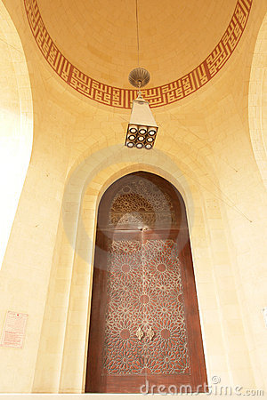 Main entrance gate of Grand Mosque in Bahrain