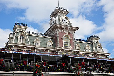 Main Entrance of Magic Kingdom of Disney Editorial Photo