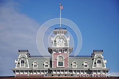 Main Entrance of Magic Kingdom of Disney Editorial Stock Image