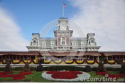 Main Entrance of Magic Kingdom of Disney Editorial Stock Photo