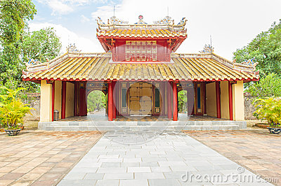 Main entrance of Minh mang grave in the Imperial City of Hue