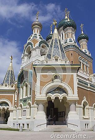 Free Main Entrance Of Saint Nicholas Ortodox Church In Nice Stock Images - 126860704