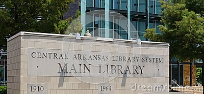 Main Entrance Sign at the Arkansas Studies Institute Sign