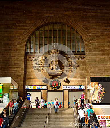 Main Entrance of Stuttgart s Central Station Editorial Photography