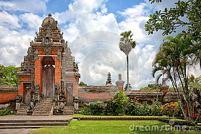 Main entrance to Taman Ayun Temple, Bali, Indonesia