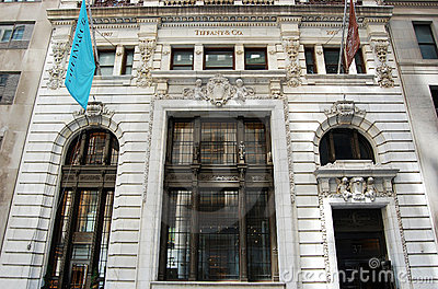 Main Entrance to Tiffany Store, New York Editorial Photo