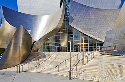 Main Entrance of the Walt Disney Concert Hall Editorial Photo