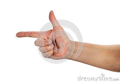 Main faisant des gestes l arme