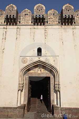 Main gate Golconda Fort, Hyderabad Editorial Image
