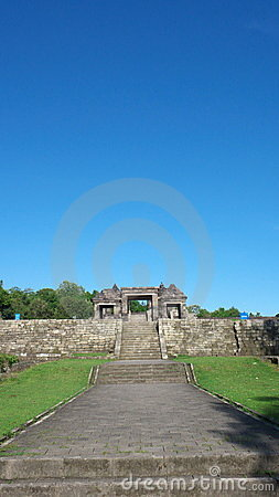 Main gate of ratu boko palace