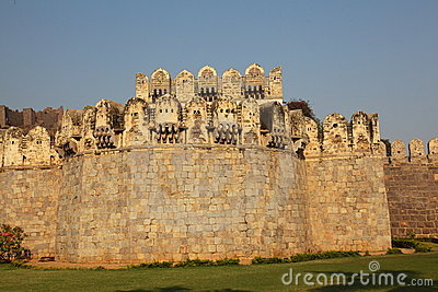 Main gate scene, Golconda Fort, Hyderabad