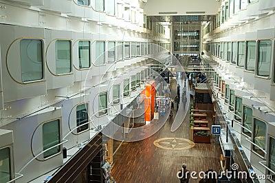 Main hall of large cruise ship