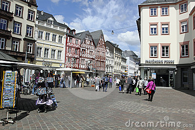 Main market in Trier Germany Editorial Image