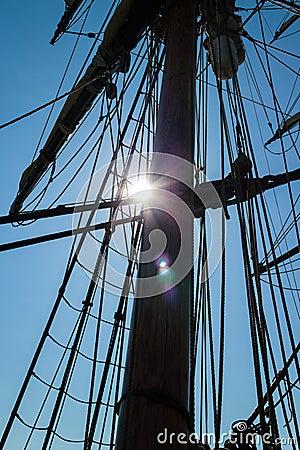 Main mastpole - backlit