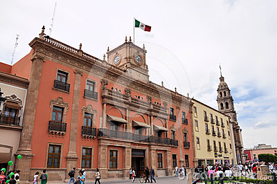 Main Plaza at Leon Mexico Editorial Stock Image