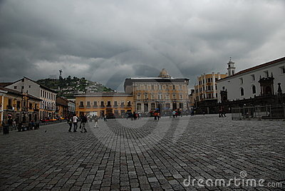 Plaza San Francisco in Quito Editorial Photography