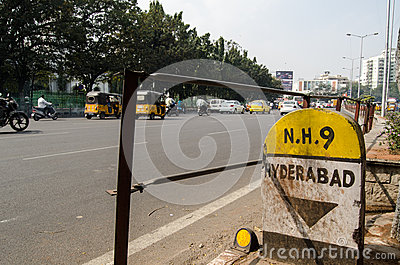 Main Road, Hyderabad Editorial Stock Photo