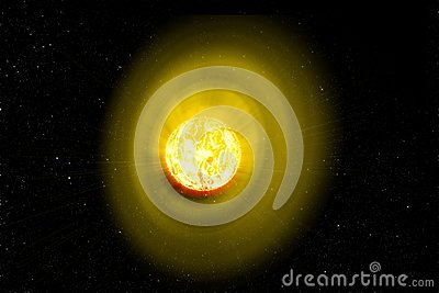 the main source of energy on Earth . solar winds Stock Photo