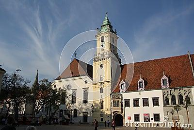 Main Square in Bratislava (Slovakia) Editorial Photography
