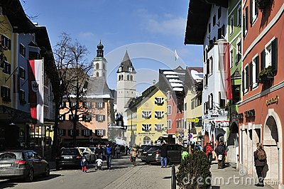 Kitzbuhel Editorial Stock Photo