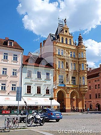 Main square, Ceske Budejovice, Czech Republic Editorial Image