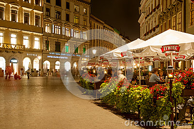 Main Square of Krakow Editorial Photo