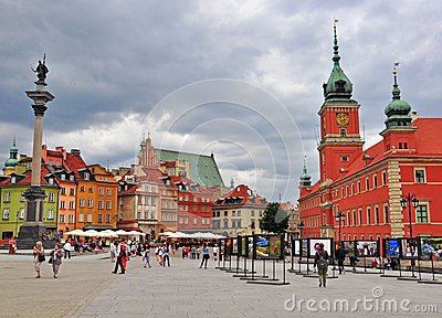 Main square of Warsaw, Poland Editorial Image