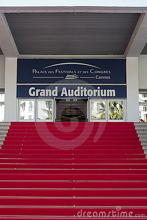 The main staircase of the Cannes Palace Festivals