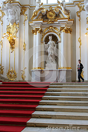 Main Staircase of the Hermitage Winter Palace Editorial Photography