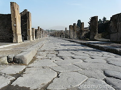 Main street at the ancient Roman city of Pompeii