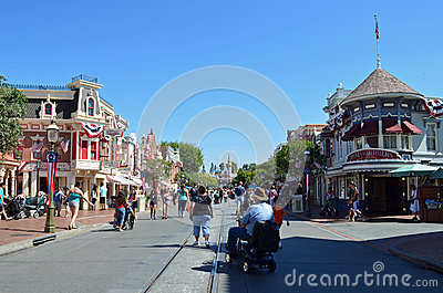 Main street disney Editorial Stock Photo