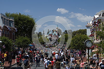 Main Street Disneyland Editorial Image