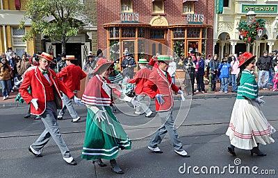 Main Street Electrical Parade in Disney Orlando Editorial Stock Photo