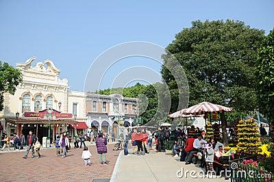 Main Street of hong kong Disney Editorial Stock Photo