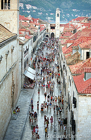 Free Main Street In Old City Of Dubrovnik Stock Image - 2086611