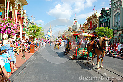 Main Street U.S.A. Editorial Stock Image
