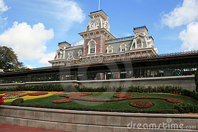 Main Street USA Train Station - Magic Kingdom Editorial Stock Image