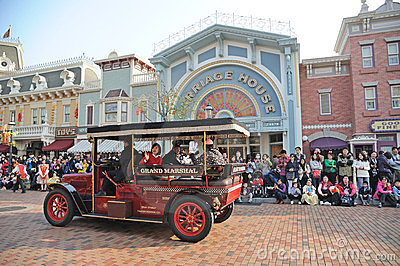 Main Street vehicles of hong kong Disney Editorial Photography