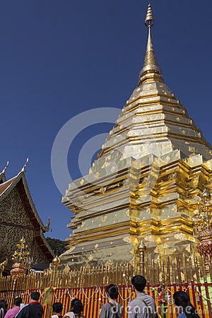 Doi Suthep Buddhist Temple - Chiang Mai - Thailand Editorial Photo