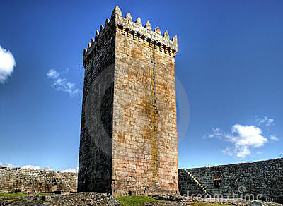 Main tower of Melgaco castle in Portugal