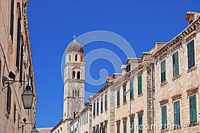 Main walking street in Dubrovnik, Croatia