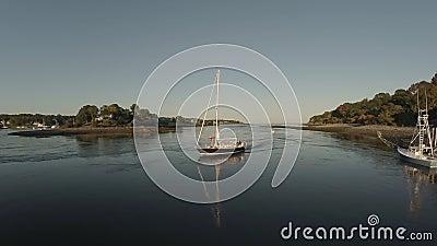 Maine Aerial Sailboat clips vidéos