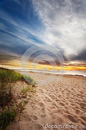 Maine beach sunrise