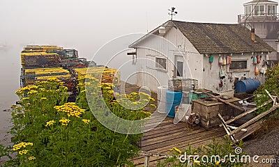 Maine fishing shack and dock