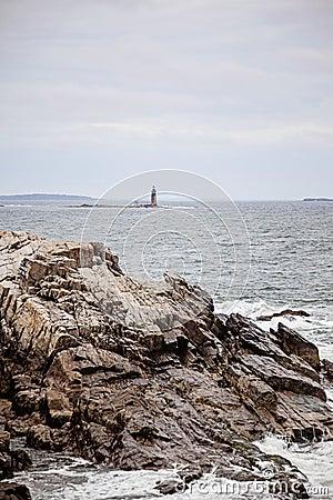 Free Maine Ram Island Ledge Light Station Stock Photos - 124018713