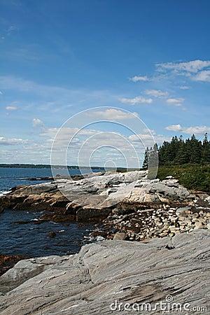 Maine Rocky Shoreline