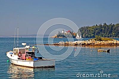 Maine scenic coastline